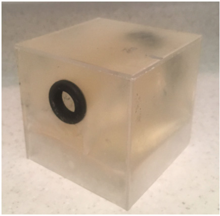 Ultrasound phantom made of refrigerated gelatin