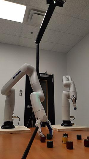 Collaboration entre robots