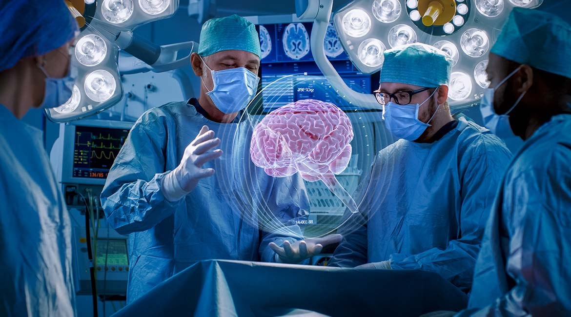 Assisted neurosurgery with augmented reality