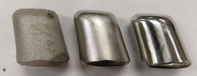 Surface finishes at different steps