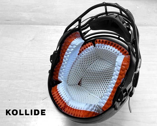 First prototype of the KOLLIDE Helmet