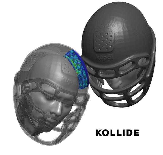 Impact analysis of helmets from Kollide-ETS