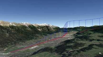 Aircraft trajectory at takeoff in 3D