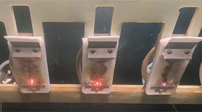 Essai des isolateurs en composites de caoutchouc silicone
