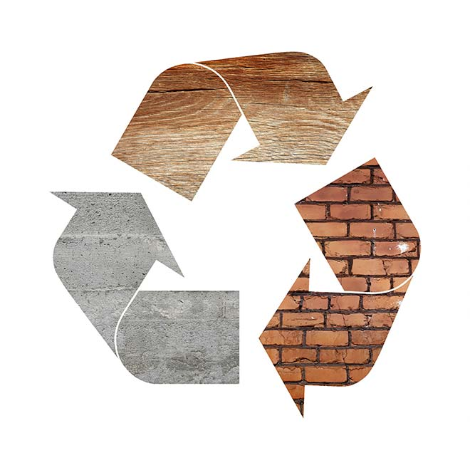 Recycling in construction