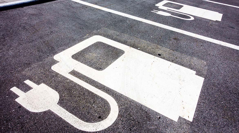 Stationnement pour voiture électrique