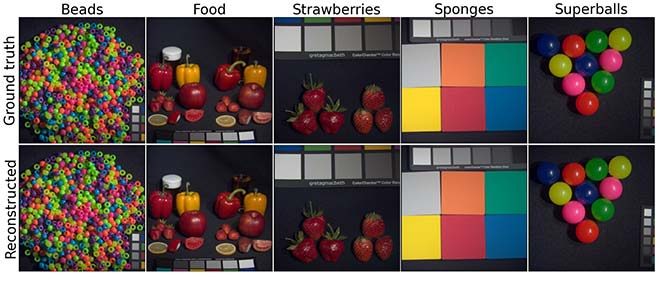 RGB images reconstructed from MSI images